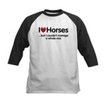 The Horse Meet Kids Baseball Jersey