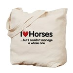 The Horse Meet Tote Bag