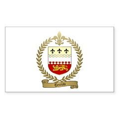 TERRIAU Family Crest Rectangle Sticker