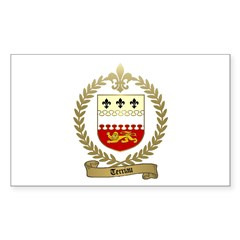 TERRIAU Family Crest Rectangle Decal