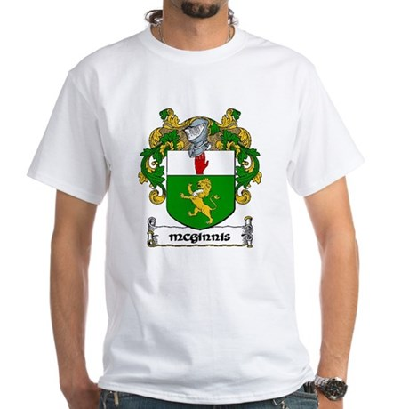 McGinnis Coat of Arms White T-Shirt