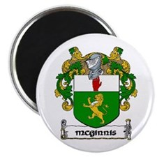 """McGinnis Coat of Arms 2.25"""" Magnet (10 pack)"""