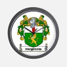 McGinnis Coat of Arms Wall Clock