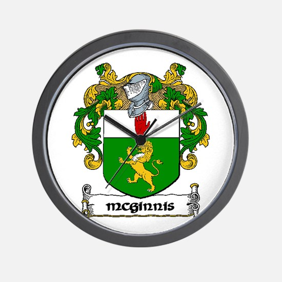 McGinnis Coat of Arms Wall Clock