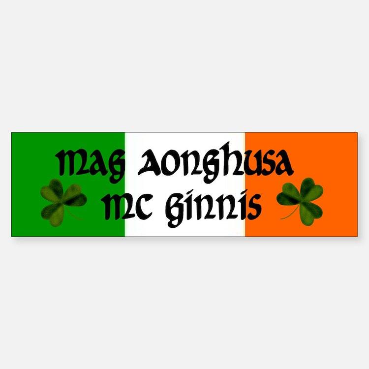 McGinnis in Irish & English Bumper Bumper Bumper Sticker