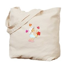 Butterfly Baby Girl Tote Bag