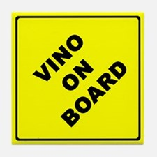Vino On Board Tile Coaster