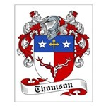 Thomson Family Crest Small Poster
