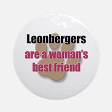 Leonbergers woman's best friend Ornament (Round)