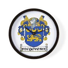 McGovern Coat of Arms Wall Clock