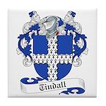Tindall Family Crest Tile Coaster