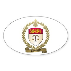 THIBODEAUX Family Crest Oval Decal