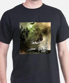 Awesome shipwreck in the sunset T-Shirt