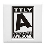 Rated Awesome Tile Coaster