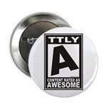 "Rated Awesome 2.25"" Button"