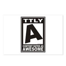 Rated Awesome Postcards (Package of 8)