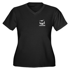 Lolcat Women's Plus Size V-Neck Dark T-Shirt