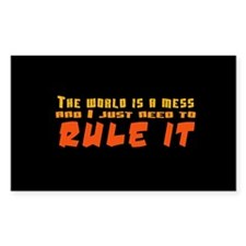 Rule World Rectangle Decal