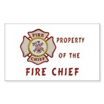 Fire Chief Property Sticker (Rectangle)