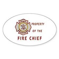 Fire Chief Property Decal