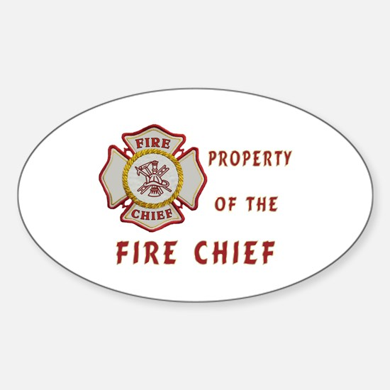 Fire Chief Property Sticker (Oval)