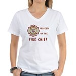 Fire Chief Property Women's V-Neck T-Shirt