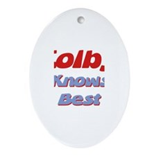Colby Knows Best Oval Ornament