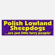 Furry Ppl Polish Lowland Sheepdog Bumper Bumper Bumper Sticker