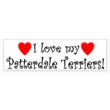 I Love My Patterdale Terriers Bumper Car Sticker