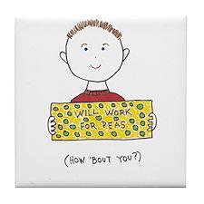 Cute Anti motivational Tile Coaster