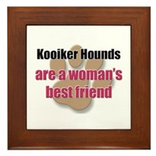 Kooiker Hounds woman's best friend Framed Tile