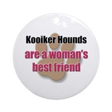 Kooiker Hounds woman's best friend Ornament (Round