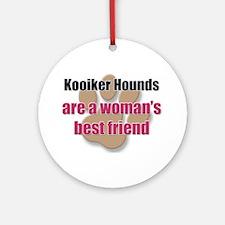 Kooiker Hounds woman's best friend Ornament (Round