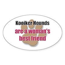 Kooiker Hounds woman's best friend Oval Decal