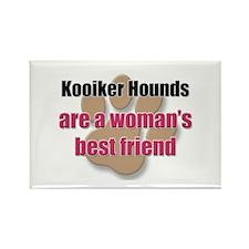 Kooiker Hounds woman's best friend Rectangle Magne