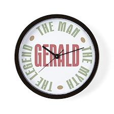 Gerald Man Myth Legend Wall Clock