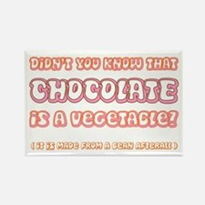 Chocolate is a Veggie Rectangle Magnet