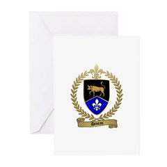 DEVEAU Family Crest Greeting Cards (Pk of 10)