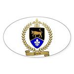 DEVEAU Family Crest Oval Sticker