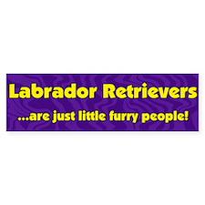 Furry People Labrador Retriever Bumper Bumper Sticker