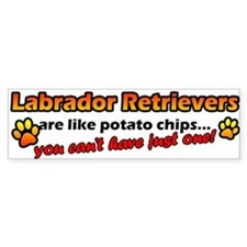 Potato Chips Labrador Retriever Bumper Bumper Sticker