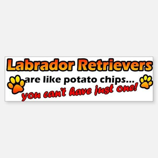 Potato Chips Labrador Retriever Bumper Car Car Sticker