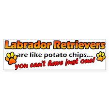 Potato Chips Labrador Retriever Bumper Car Sticker