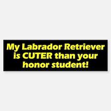 Cuter Labrador Retriever Bumper Bumper Bumper Sticker
