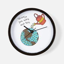Cute World culture Wall Clock