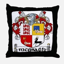 McGrath Coat of Arms Throw Pillow