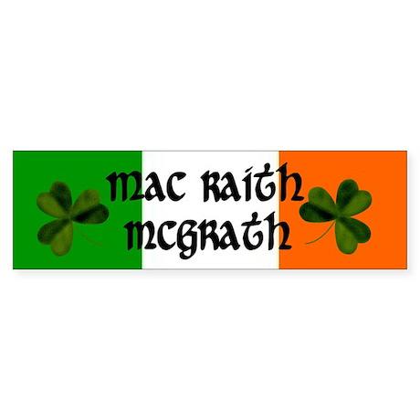 McGrath in Irish & English Bumper Sticker