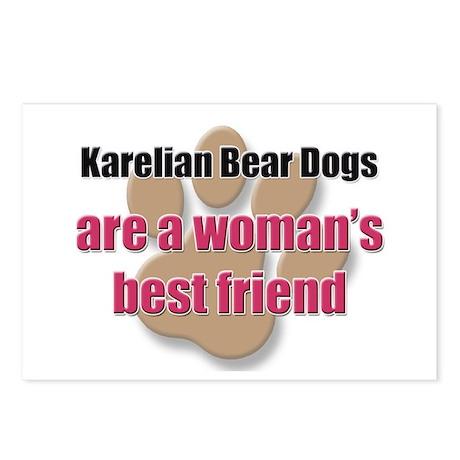 Karelian Bear Dogs woman's best friend Postcards (