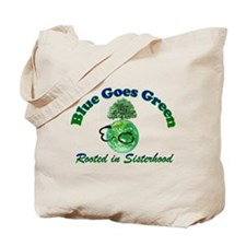 Rooted in Sisterhood Green Bag