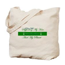 Supporting My Hero Green Bag